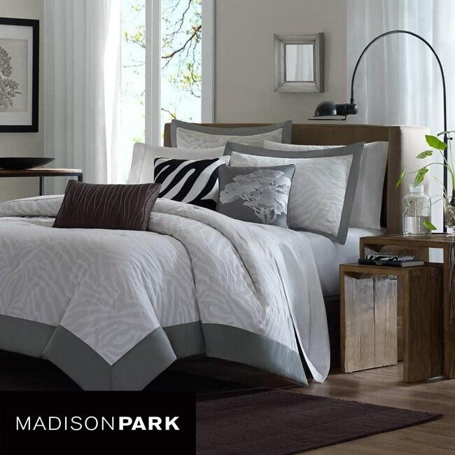 Madison Park Sasha 6-piece King-size Duvet Cover Set