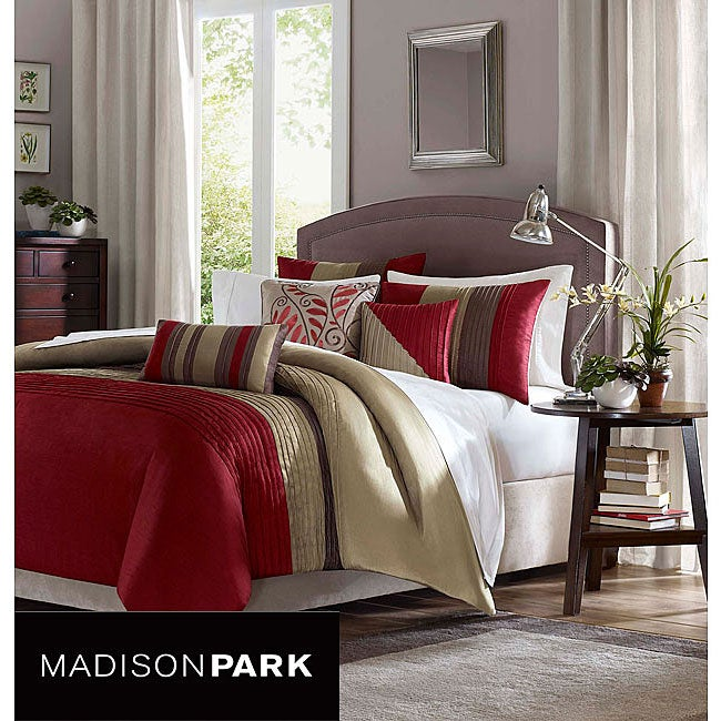 Madison Park Salem 6 Piece King Size Duvet Cover Set