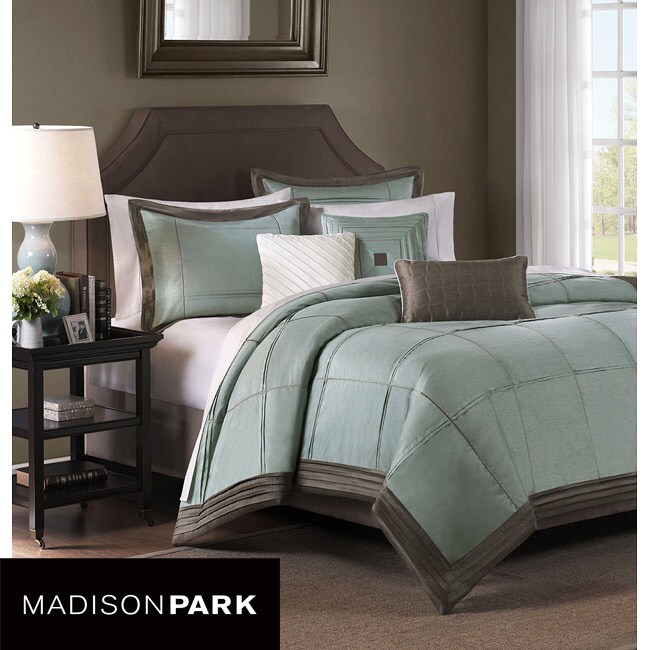 Madison Park Cascade Blue 6-piece King-size Duvet Cover Set
