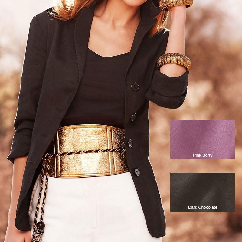Spiegel Women's Plus Size Signature Washed Linen Tank Top