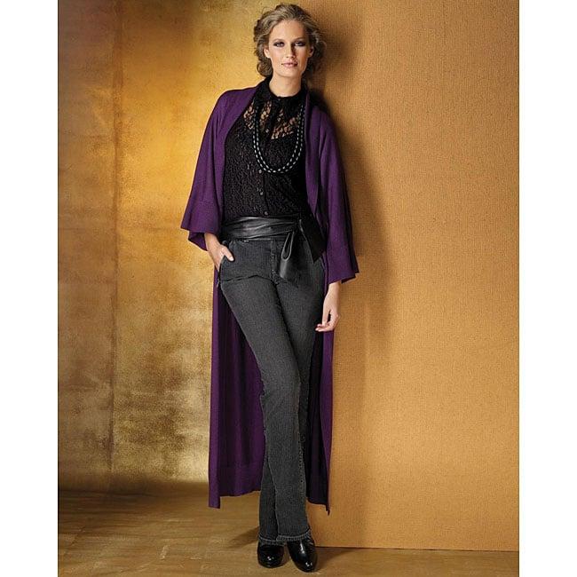 Spiegel Women's Missy Black Lace Fitted Blouse