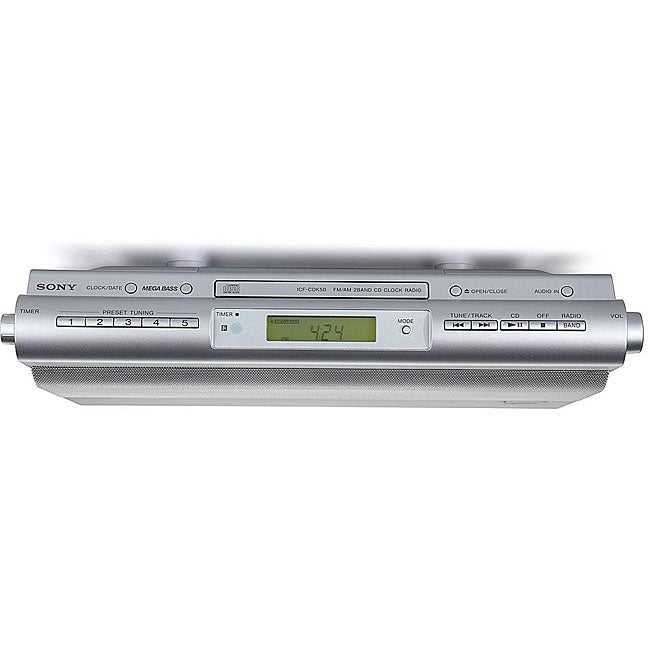 sony kitchen radio under cabinet sony icfcdk50 cabinet kitchen cd clock radio 26482