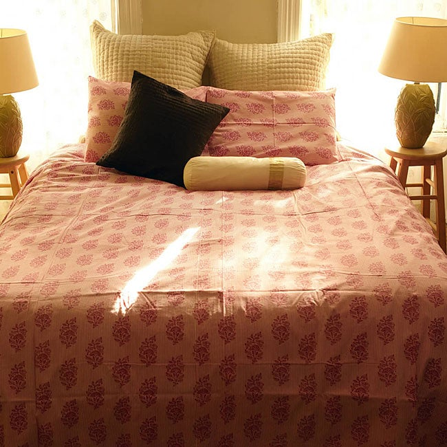 Shop Organic Cotton Elyse Rose Queen Size Duvet Cover India Free