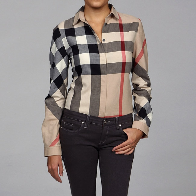 Excellent Plaid Burberry Check Shirt Burberry Brit Burberry Women Burberry Shirt