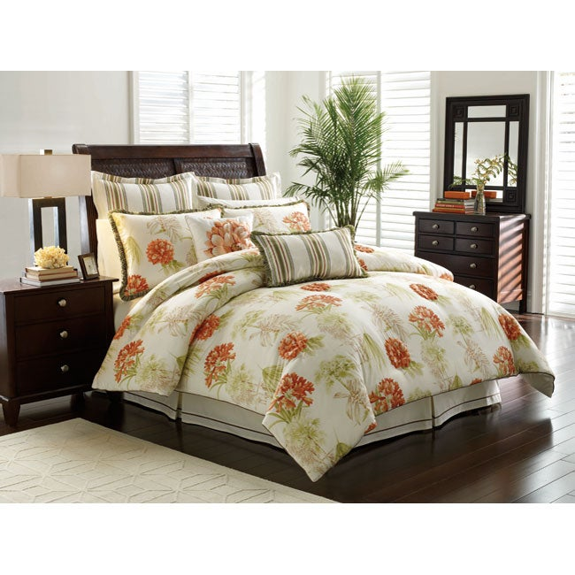 Tropical Vacation 4 Piece King Size Comforter Set Free