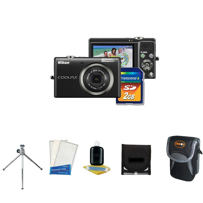 Nikon Coolpix S570 12MP Black Digital Camera with Bonus Kit (Refurbished)