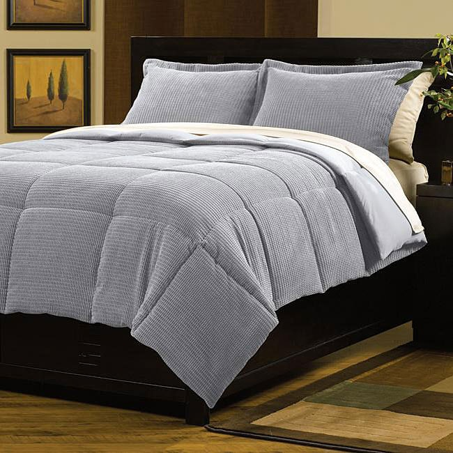 Dash Slate Blue Down Alternative Comforter and Sham Set - Free