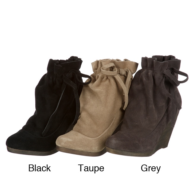 1d41f5d07132 Shop Steve Madden Women s  P-Matti  Wedge Boots - Free Shipping On Orders  Over  45 - Overstock - 5504086