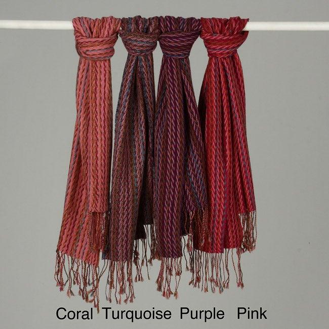 La Fiorentina Striped Wool Scarf