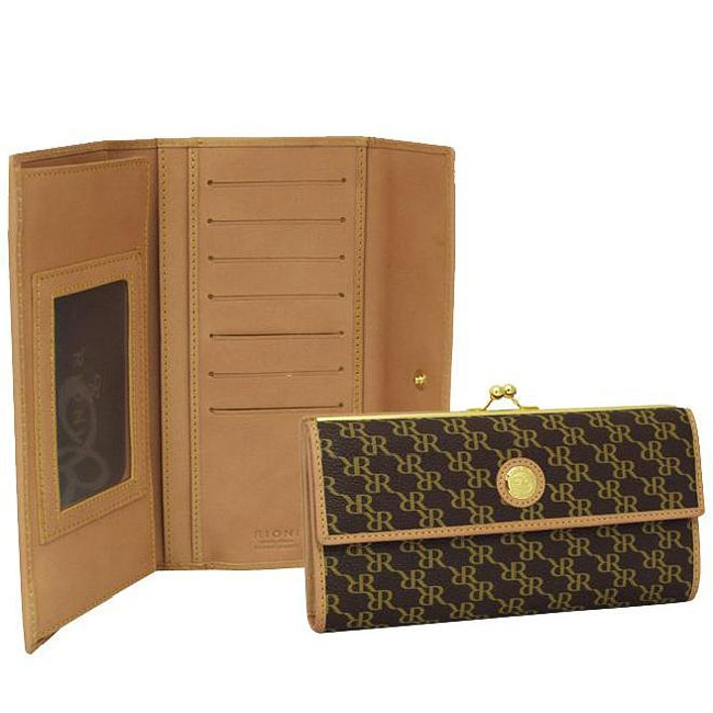 Rioni Women's Aristo Continential Canvas Clasp Wallet