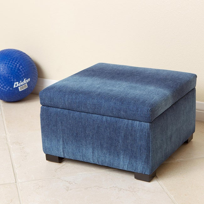 Blue Denim Kids Storage Ottoman Free Shipping On Orders