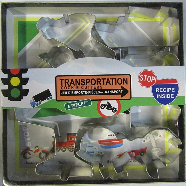 Transportation Cookie Cutter 6-piece Set