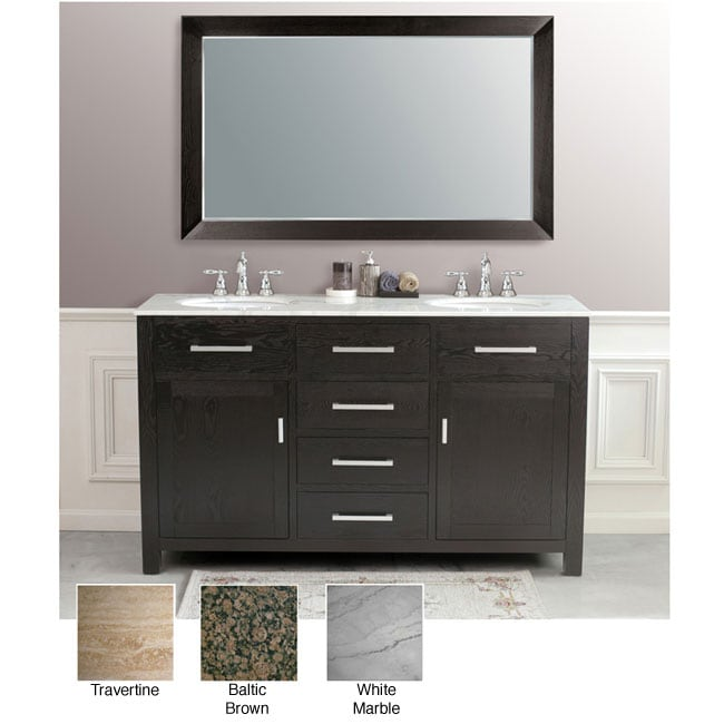 Sapphire 60-inch Double Sink Bathroom Vanity