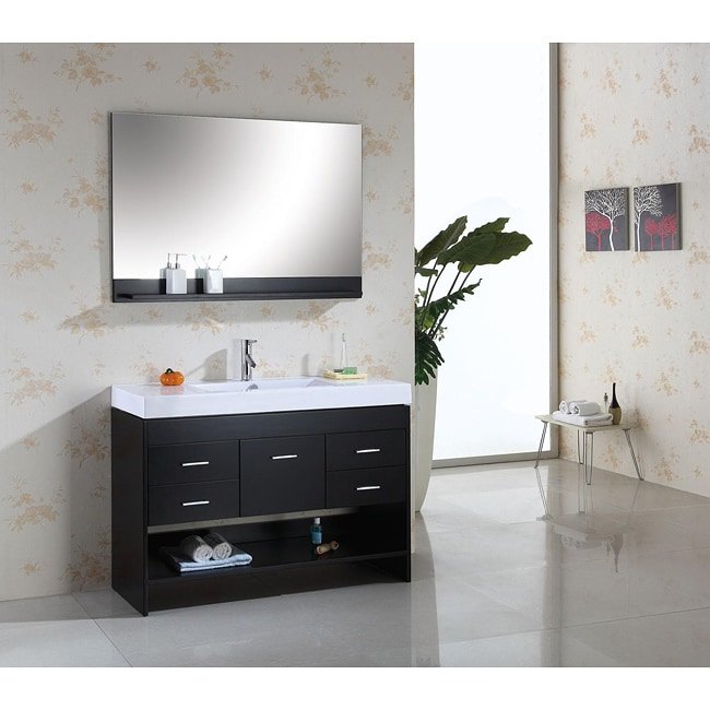 marcus 48 inch single sink bathroom vanity set free shipping today