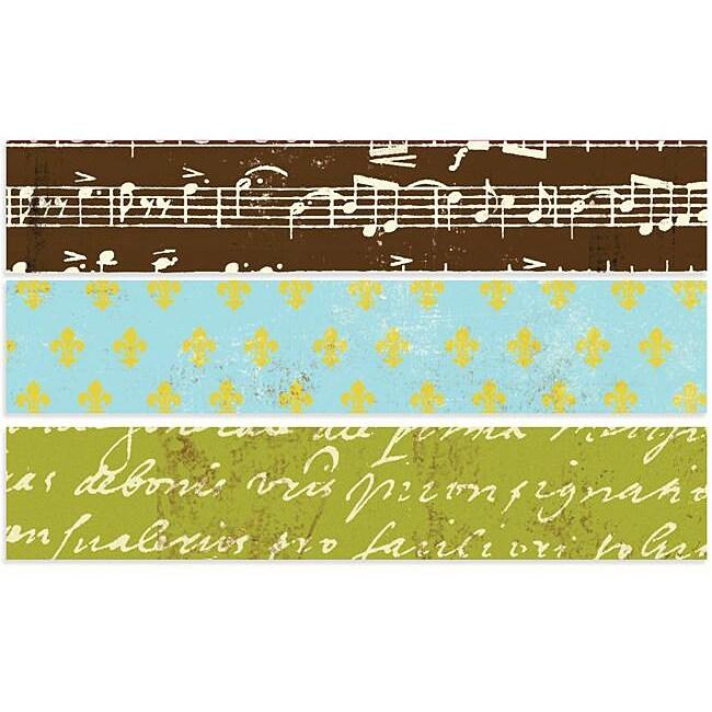 Avignon 0.75-inch 5 Yard Rolls Printed Paper Tape (Pack of3)