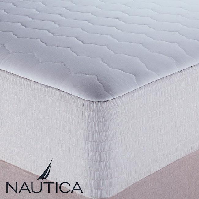 Nautica 400 Thread Count Egyptian Cotton Stripe Mattress Pad