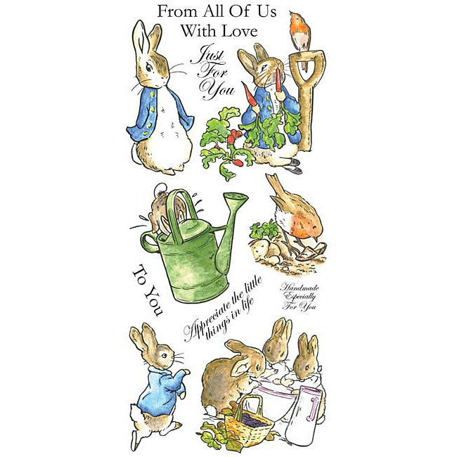 Beatrix Potter- The Tale of Peter Rabbit Unmounted Stamp Set