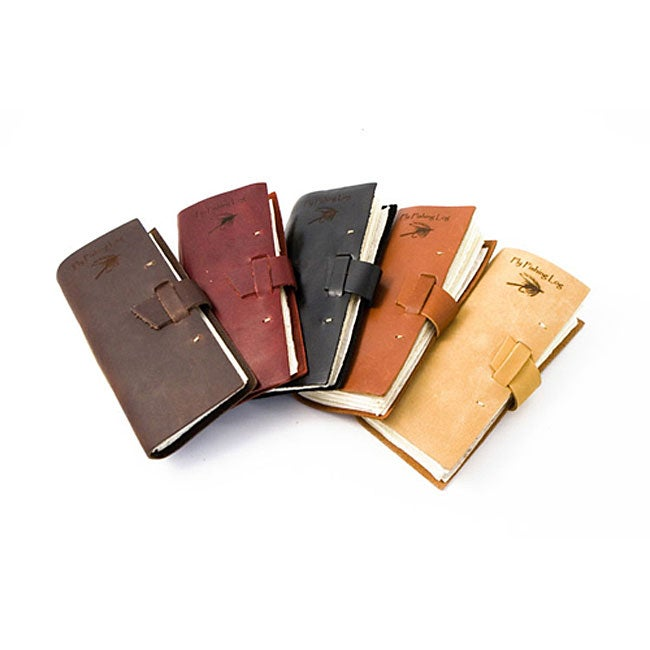 Leather fly fishing log journal usa free shipping on for Fly fishing journal