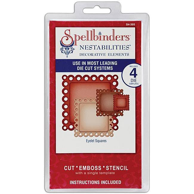 Spellbinders Nestabilities Eyelet Squares Decorative Elements Dies