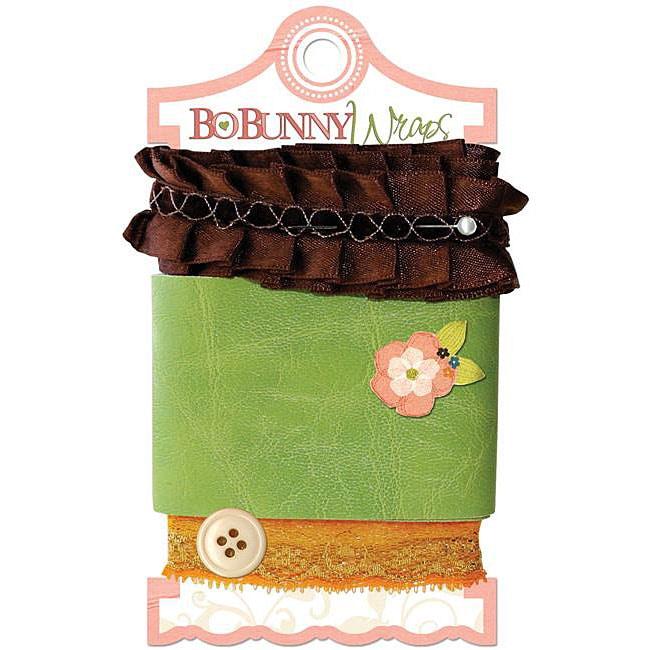 Bo-Bunny Olivia Wraps Ribbon Card (Chocolate Ruffle)