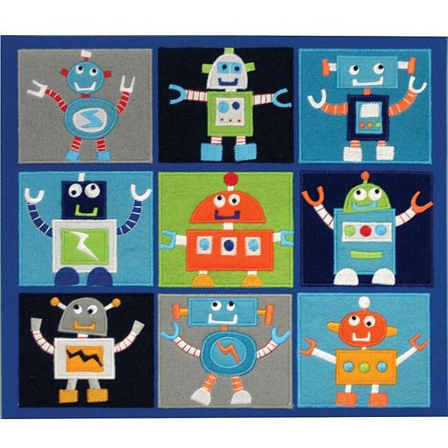 Amanda Blue Robots Fabric Album (12 x 12)
