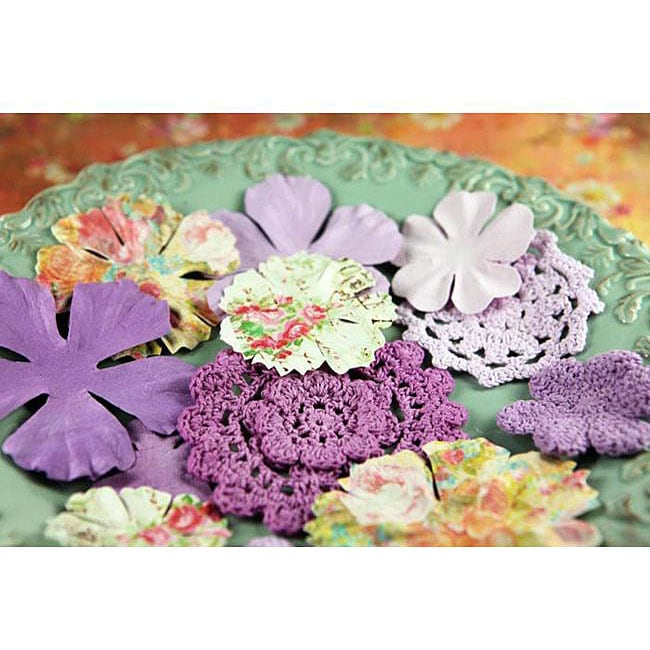 Sweet Taffy 12-piece Lavender Decretive Flowers