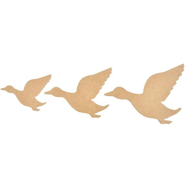 Beyond The Page High Quality Press Board MDF Flying Ducks (Set of 3)