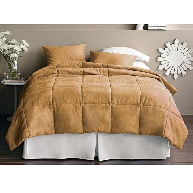 Caramel Solid King Comforter Set