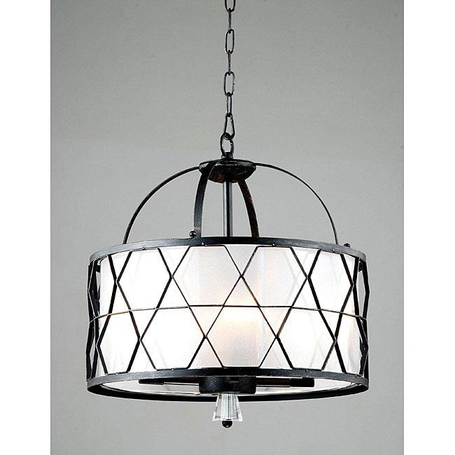Arcadia 4-light Black/ Silver Chandelier