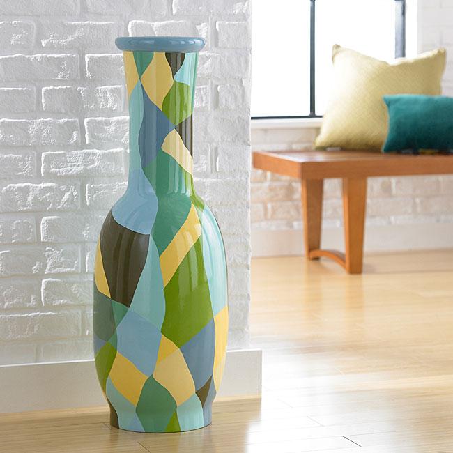 Patchwork Medium Floor Vase (Indonesia)