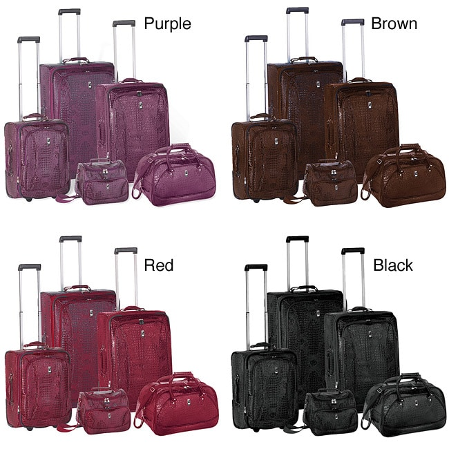 171980ce3b76 Travel Concepts Amazon Croco 5-piece Luggage Set
