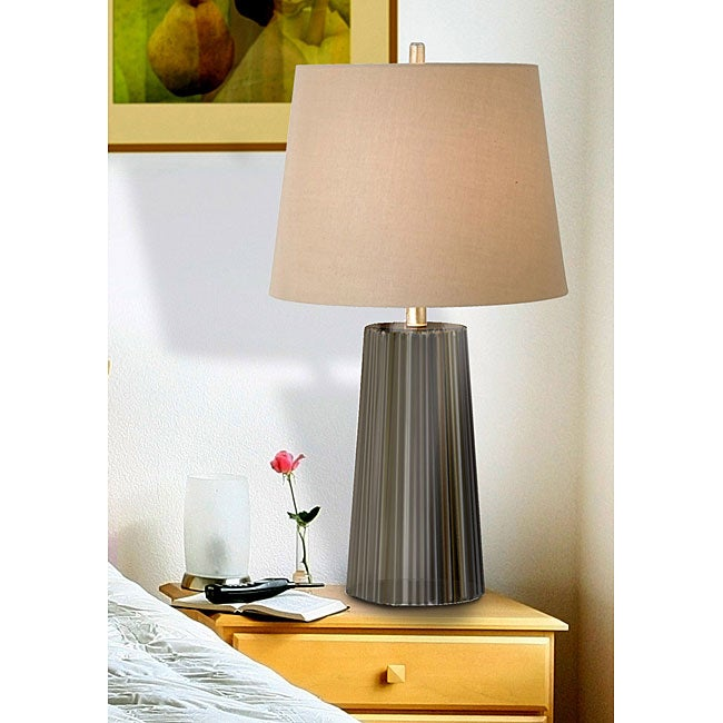Tristan Forest Green/ Gold Table Lamp