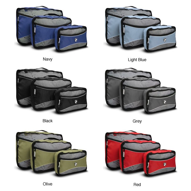 Heys 3-piece Polyester Travel Packing Cubes