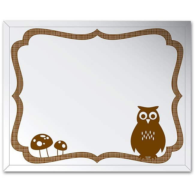 Frameless 16x20 Owl Wall Mirror