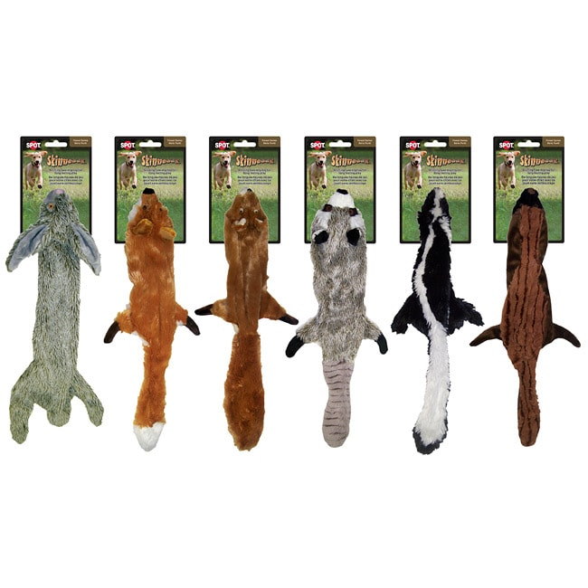 Large Skinneeez Stuffingless Hunting Fun Squeaky Dog Toys (Set of 6)