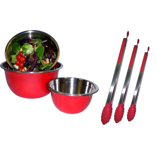 Mixing Bowl and Tong Set