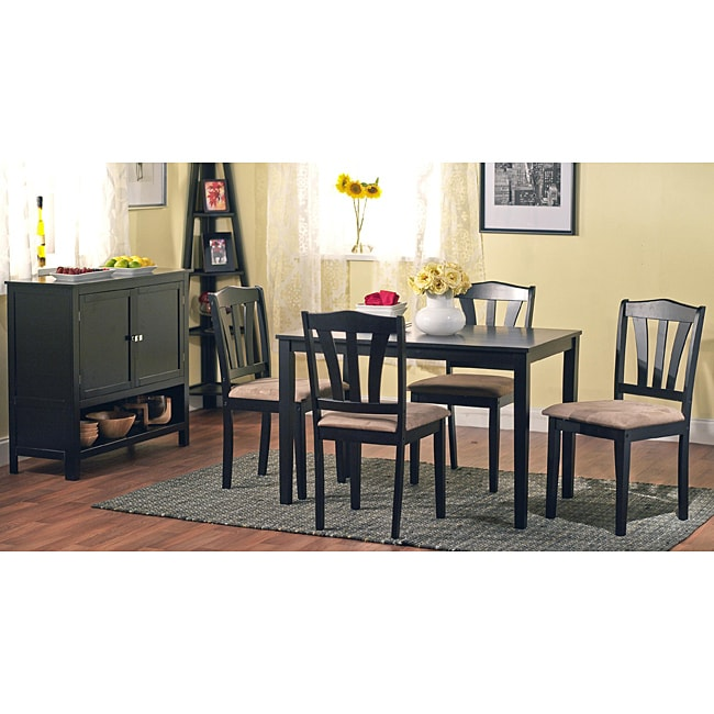 Elmdon Black Circular Dining Table And 4 Chairs Starrkingschool