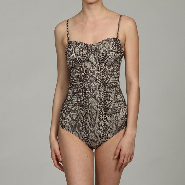Kenneth Cole Women's 1-piece Python Print Swimsuit