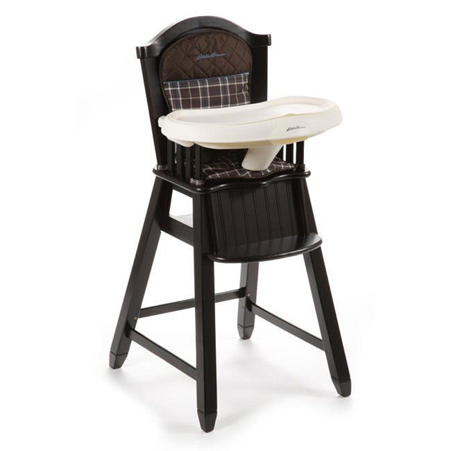 Eddie Bauer Wood High Chair in Charter Atlantic Blue