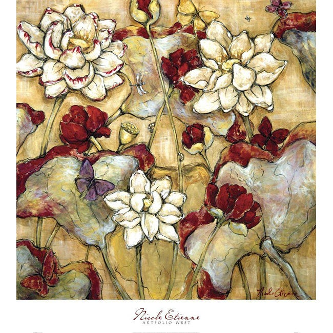Nicole Etienne 'Lotus Botanical' Gallery-wrapped Canvas Art