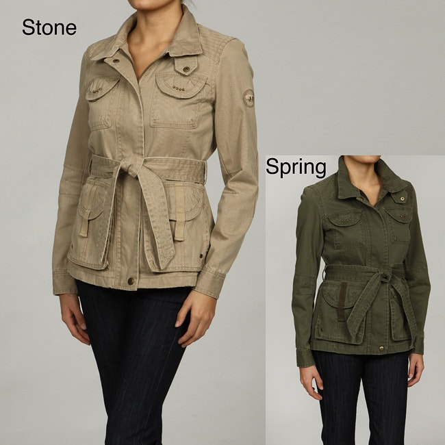 Buffalo Women's Military Belted Patchwork Jacket