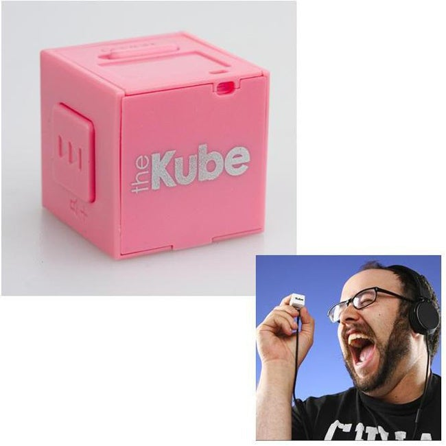 The Kube TK-103 Pink MP3 Player/ 2GB MicroSD Card - Thumbnail 0