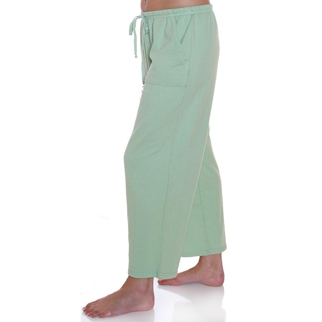 Hot Cotton by Marc Women's Ware French Terry Capri Pants