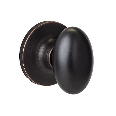Sure-Loc Vintage Bronze Egg-shaped Dummy Door Knob