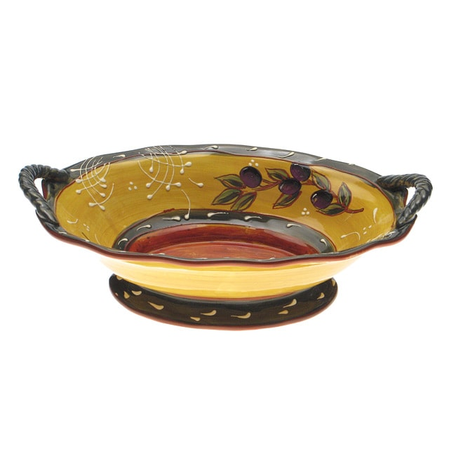 Certified International French Olives Oval Serving Bowl