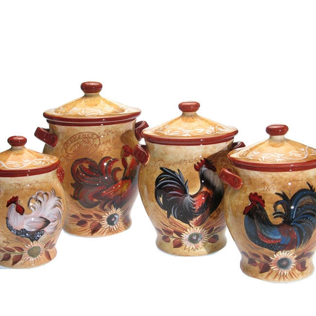 Shop Certified International Golden Rooster 4-piece ...