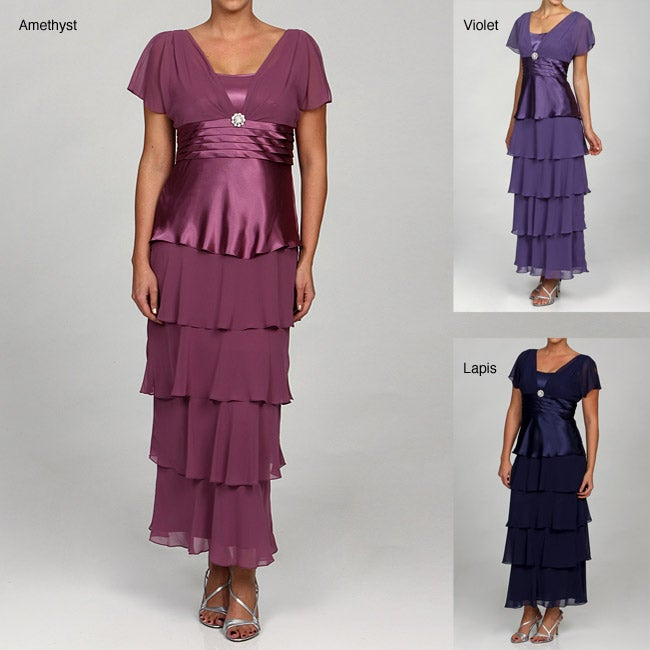 fc79f5f23a9 Shop Patra LTD Women s Tiered Evening Dress - Free Shipping Today -  Overstock - 5549240