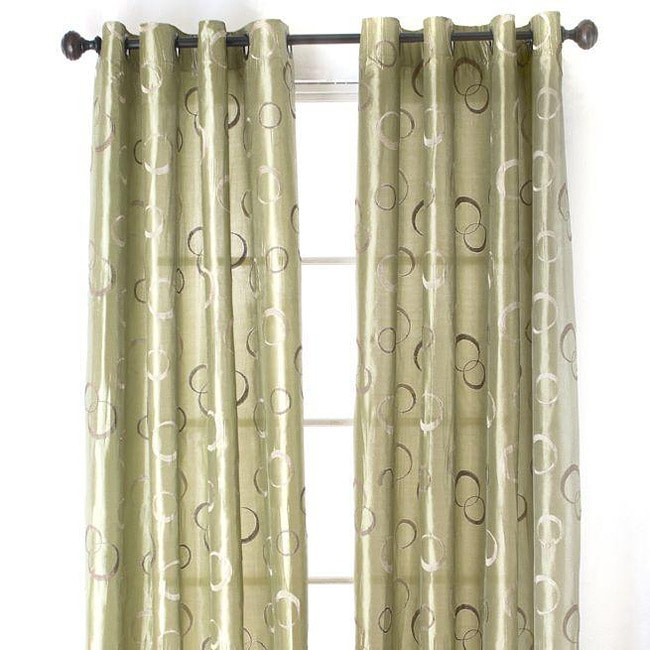 Jasper Circles Sage 84-inch Panel Pair with Grommets