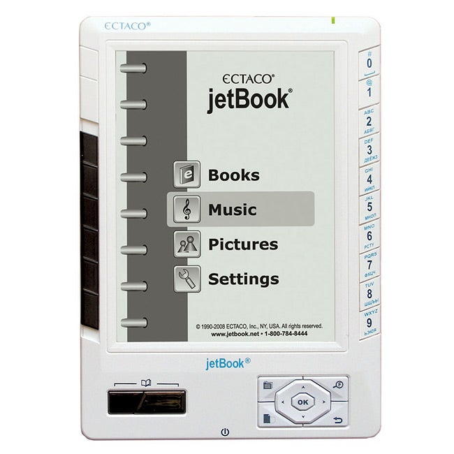 Ectaco jetBook White ebook Reader