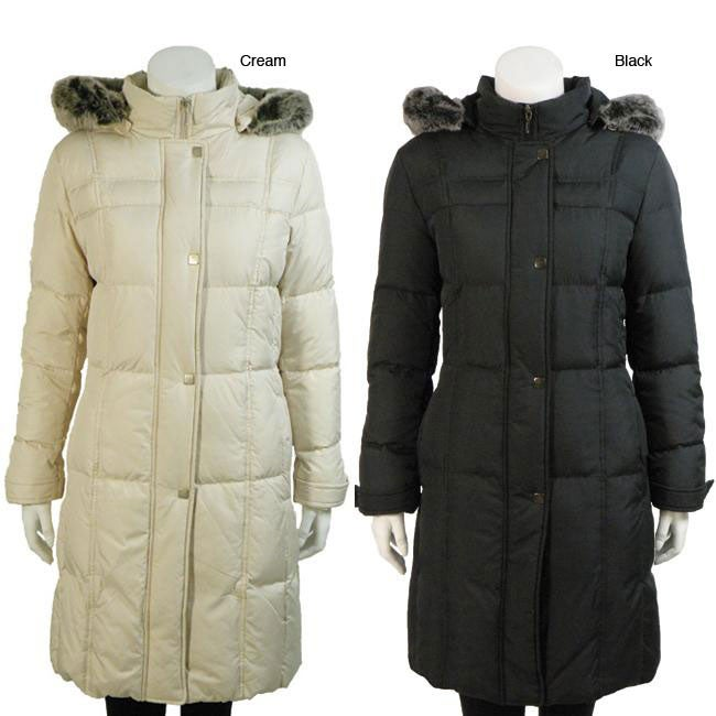 efed5977ebfd Shop UTEX Women s Faux Fur Hooded Down Coat - Free Shipping Today -  Overstock - 5552963